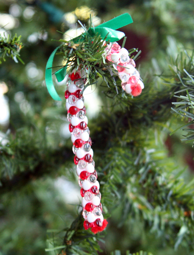 Bead-y candy cane