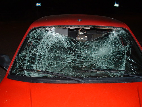 Smashed windscreen, by wheany, on flickr