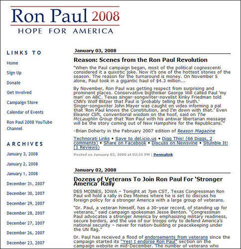 Ron Paul for President Blog