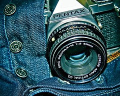 Showing My Package (7D7 Studio (Omar)) Tags: 50mm pentax denim buttonfly