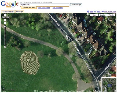 Huge Fingerprint in Google Maps