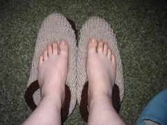 My slippers - before felting
