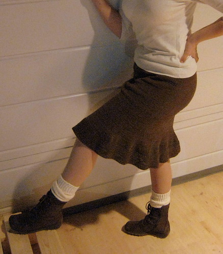 Knitted Brown Skirt