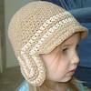 Aviator Beanie - army tan, beige (pdxbeanies) Tags: hat kids army bill kid beige child crochet tan yarn cap ear rim beanie flap aviator visor earflap earflaps
