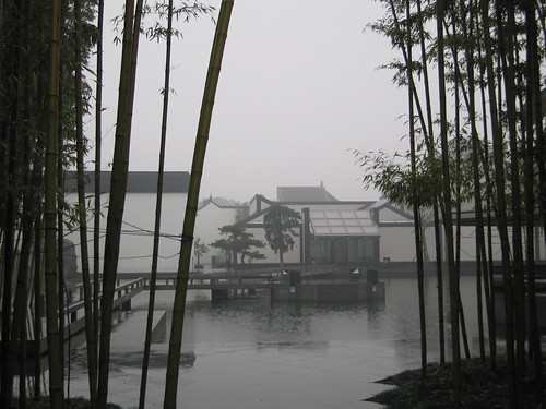 雨中苏州博物馆
