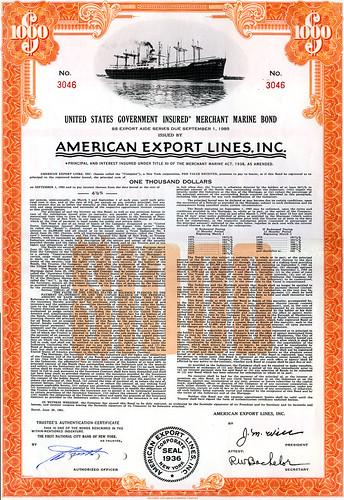 American-Export-Lines-Govt-Bond