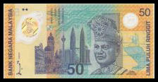 Kuala Lumpur 98 - XVI Commonwealth Games RM 50 Commemorative Polymer BankNote - Front