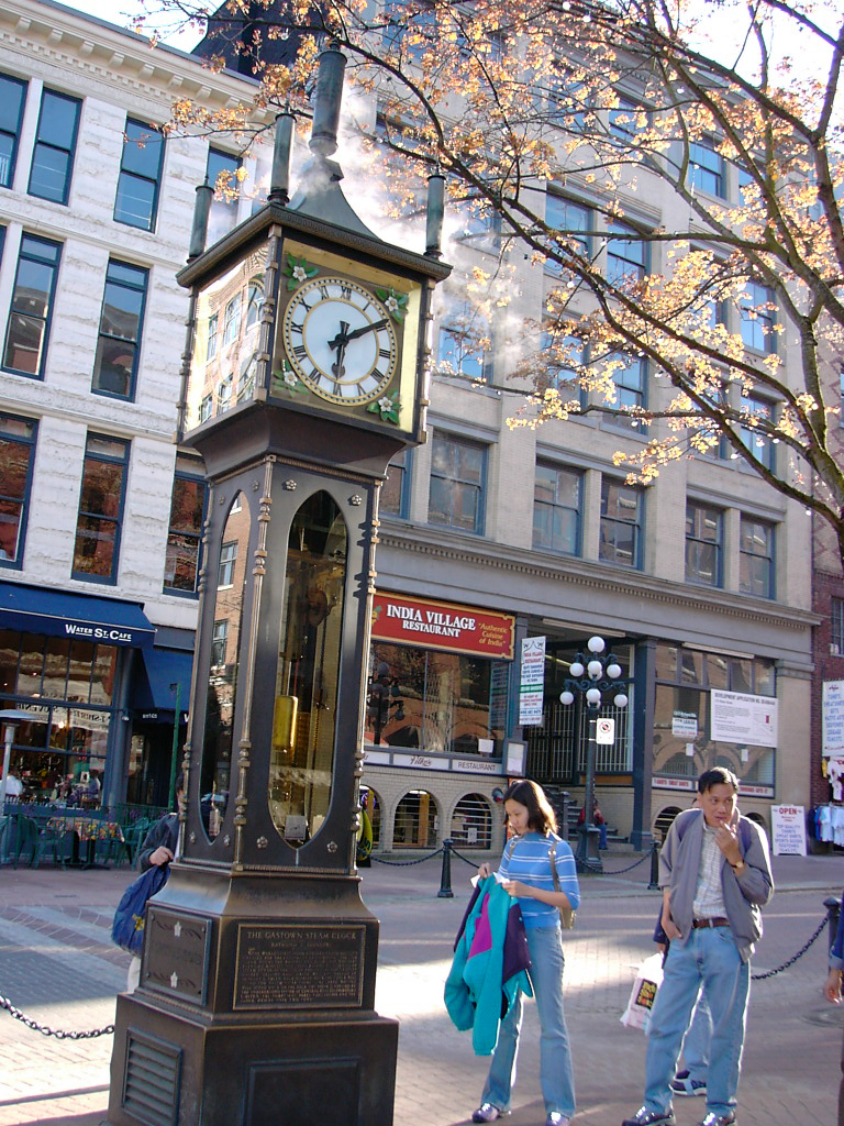 Gastown's famous steam clock