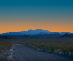 Desert Evening (OneEighteen) Tags: statepark road mountains evening texas desert bigbend atmosphericperspective aerialperspective 1000v40f blner 500v60f top20texas
