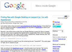 Google mac blog