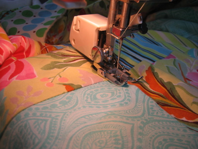 Quilting - pressure foot close up
