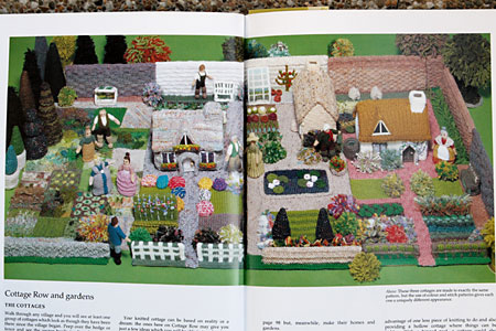 Knitted garden and cottages