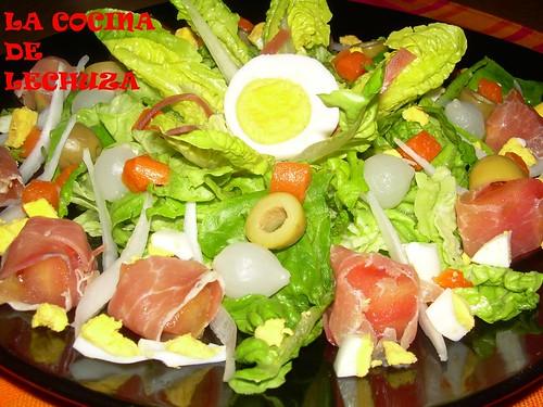 Ensalada jamón
