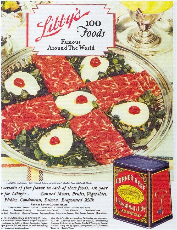 Art Deco: Libby's Corned Beef, 1930