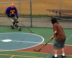 PGH Flickr Hockey Game  24 (Sohailsk) Tags: street red green hockey court blood flickr sweat rink stick shorts ringer huffnpuff streethockey sohailsk pittsburgh041208