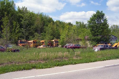 School bus graveyard