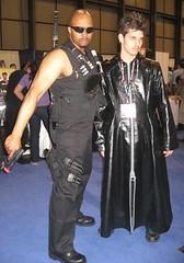 New York Comicon 2008: Men in Black (MorpheusBlade) Tags: anime costume cosplay manga blade comicon daywalker nycomicon newyorkcomicon bladetheseries bladehouseofchthon newyorkcomicon2008 nycomicon2008