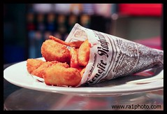 Fish & Chips. (Daddy's Girl.) Tags: fish berlin germany newspaper chips resturant fishchips