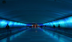 Blue Tunnel, Detroit Airport