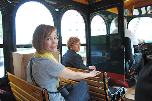 Jennifer Storey, Paula Prass on Trolly