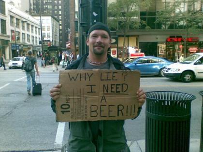 I need a beer