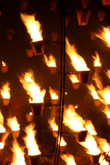 Paris brule (lavomatic) Tags: paris rouge flamme feu nuitblanche 2007 tuilerie bruler