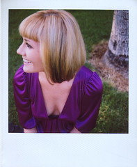 Katie and the Electric Dress (Lou O' Bedlam) Tags: polaroid katie burbank polaroid680 louobedlam mountainviewpark lounoble 101407 whocomestoaparkdrunkduringthemiddleofthedayonasundayinburbank electricpurpledressesaresweet damnfinesmile louobedlamcom