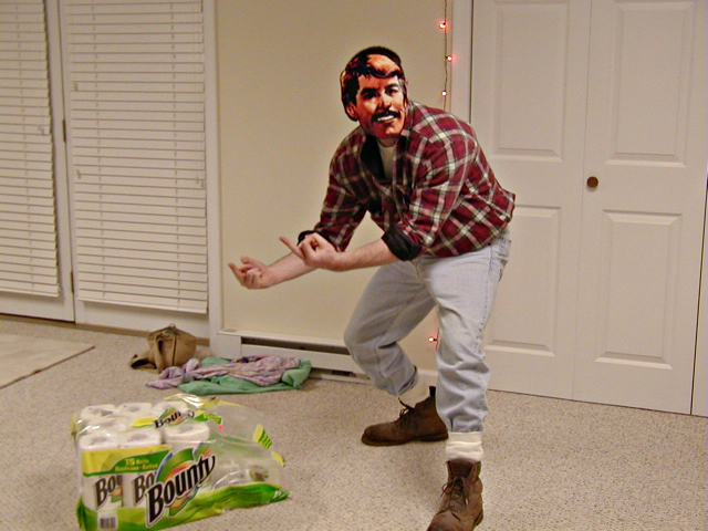 was, the Brawny man . The case of Bounty towels was a found prop at ...