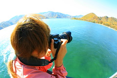 Shoot the mountains ( Spice (^_^)) Tags: camera woman lake mountains color green me nature girl beautiful japan lady female canon myself geotagged asian person photography eos photo amazing interesting asia flickr image finger creative picture vivid fisheye explore human photographs photograph  filipino 5d pinay nikko portfolio  dslr tao  housewife   gettyimages missus  babae  larawan   crusin canoneos5d searchthebes colorpicture  creativeimages mywinners abigfave colorimages digitalx   theperfectphotographer