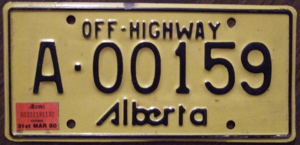 ALBERTA 1975-84 (1979, EXPIRES MAR 31/80) --- OFF HIGHWAY plate