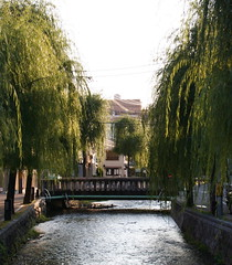 A River Runs Through It (Jon Christall) Tags: bridge trees japan river kyoto stream gion
