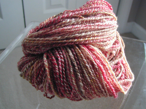 Handspun Yarn - autumn cherry