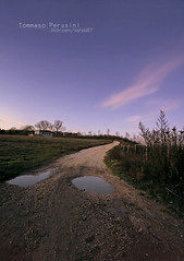 Straight to the Hill (Korso87) Tags: nature canon way landscape long angle dusk hill wide exposition 1020mm