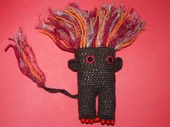 Fire troll amigurumi