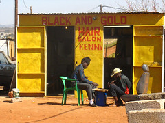 Black and Gold Hair Salon (Nijla) Tags: southafrica hairsalon blackandgold mamelodi