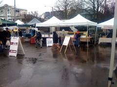 Photo titled Freezing rain at the farmer's market