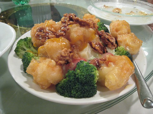 Fried prawns with walnuts, Amazing 66
