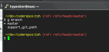 git branch info in zsh prompt