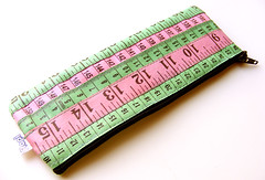 Pink and Green Measuring Tape Case