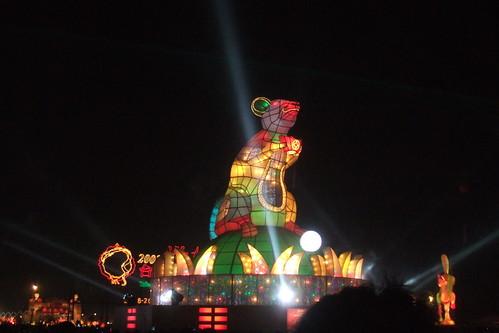 台灣燈會主燈鼠 運轉中