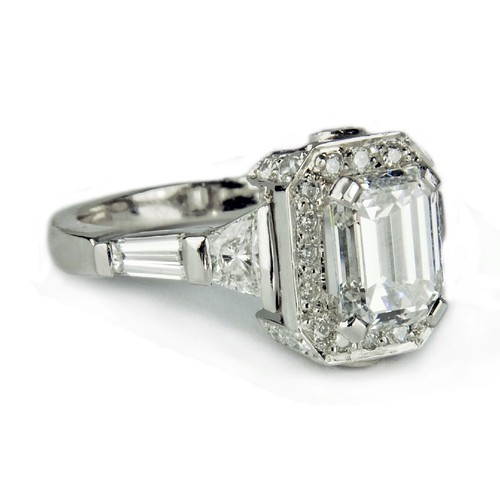 emerald cut antique engagement ring emerald cut antique