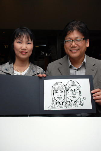 Caricature Christopher Tan 60th birtyhday party 6