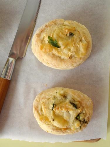 Cheese pinwheel scones