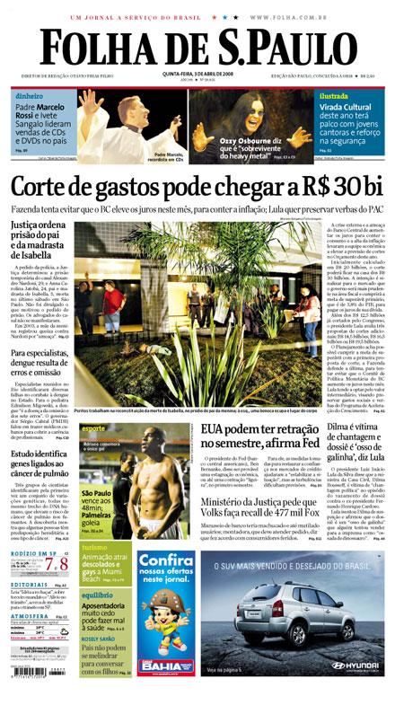 Capa da Folha