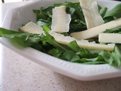 arugula and cheddar