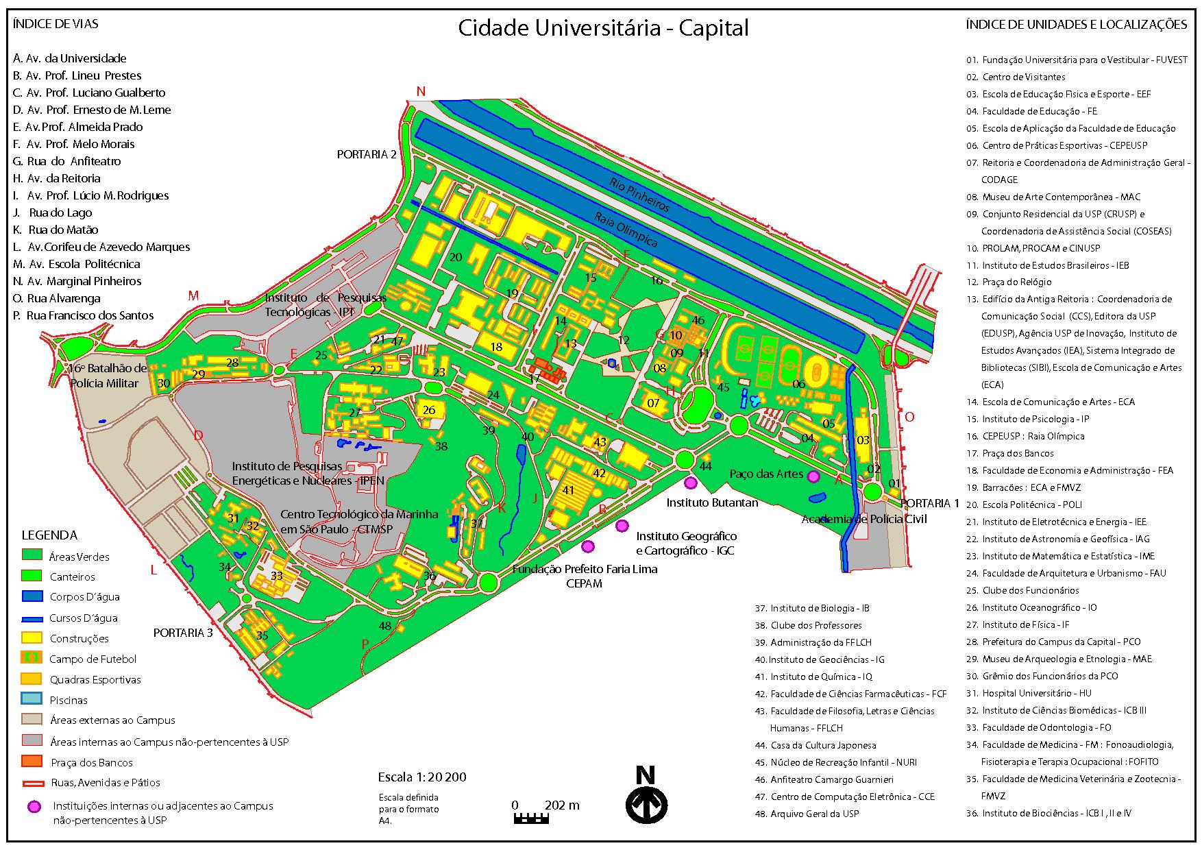 Sao Paulo State Map.University Sao Paulo Br Hr