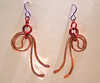 hammered copper spiral earrings