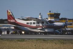 50cs - Air Caraibes Cessna 208 Caravan I; F-OGUD@SXM;05.02.1999 (Aero Icarus) Tags: slidescan plane avion aircraft flugzeug princessjulianainternationalairport saintmartin