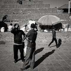 Durbar Square, Kathmandu (version 2) (chinese johnny) Tags: himalayan ambient reallifenotposedasian nepal nepali streetphotography documentaryphotography documentary vscocam vsco instagram iphone iphoneonly iphone5c bw square squareformat blackandwhite kathmandu kathmanduvalley monochrome
