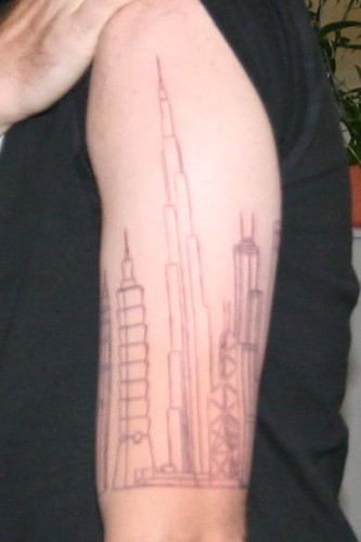 just want to show off the begning of my skyline tattoo . .finnished next